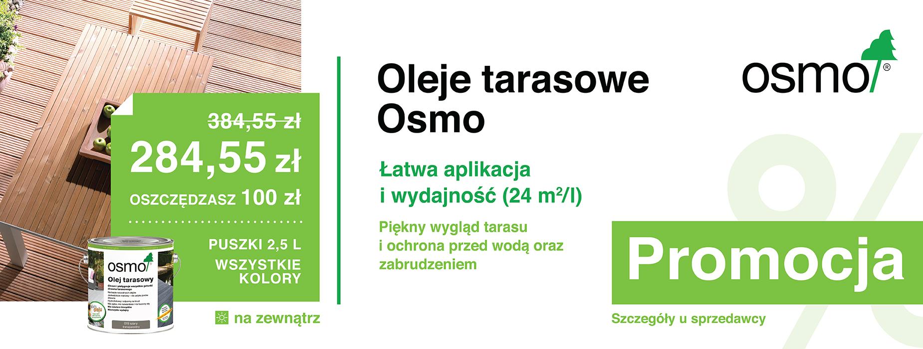 Oleje tarasowe Osmo Promocja